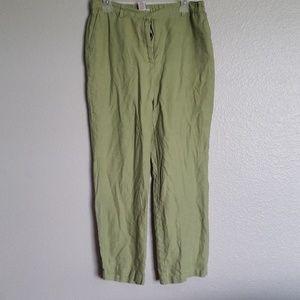 JM Collection 100% Linen Pants
